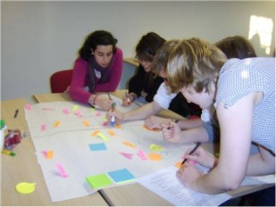 People taking part in participatory mapping