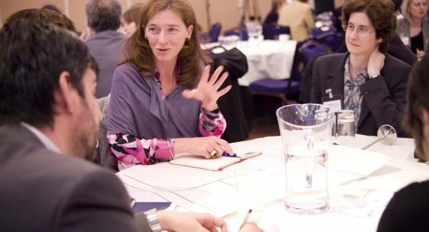 People discussing public engagement